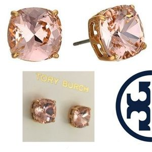 New! Tory Burch Rose Gold Crystal Studs!